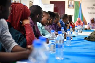 Members of the Somali parliament, representatives of civil society organizations and members of the National Independent Electoral Commission (NIEC) gathered in Mogadishu to discuss Somalia's upcoming elections in Mogadishu on 22 January 2020.