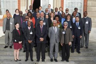 Participants of an Expert Review Meeting on Commonwealth legislative approaches to political finance regulation, organized by the Commonwealth Secretariat in London on 10–11 February. Photo credit: The Commonwealth Secretariat