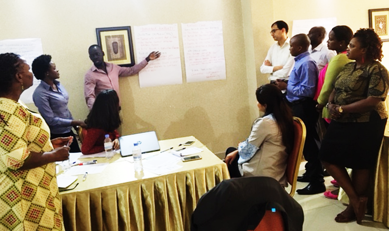 Dialogue skills training in Kigali, Rwanda on16 May 2017.