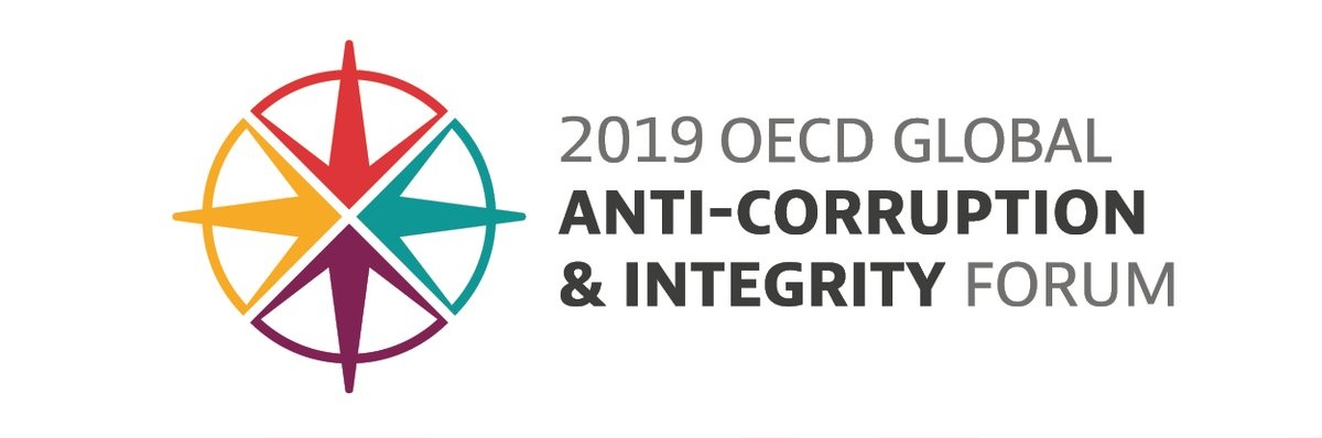 2019 OECD Global Anti-Corruption & Integrity Forum logo.
