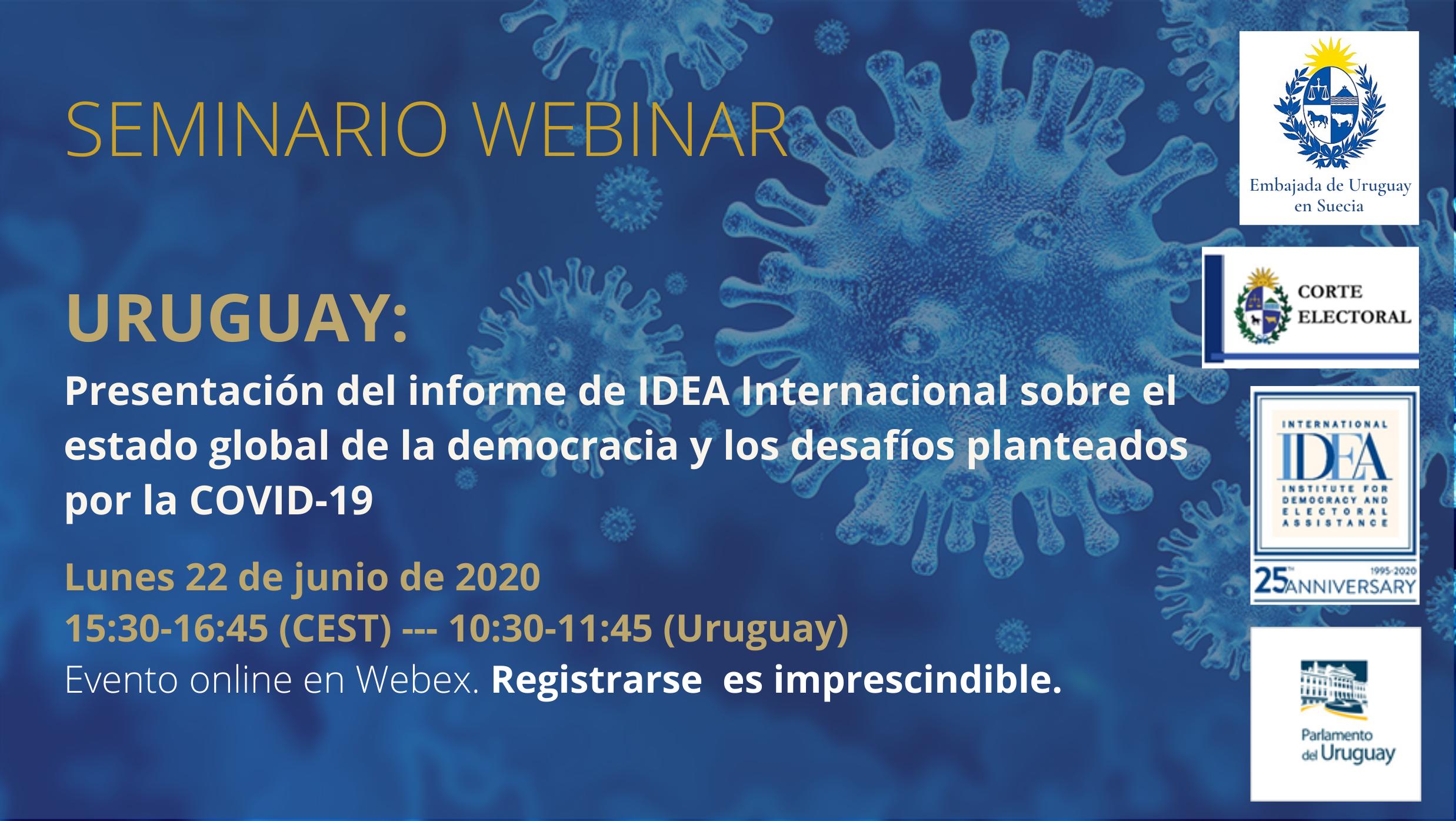 Uruguay: Presentación del informe de IDEA Internacional sobre el estado global de la democracia y los desafíos planteados por la COVID-19