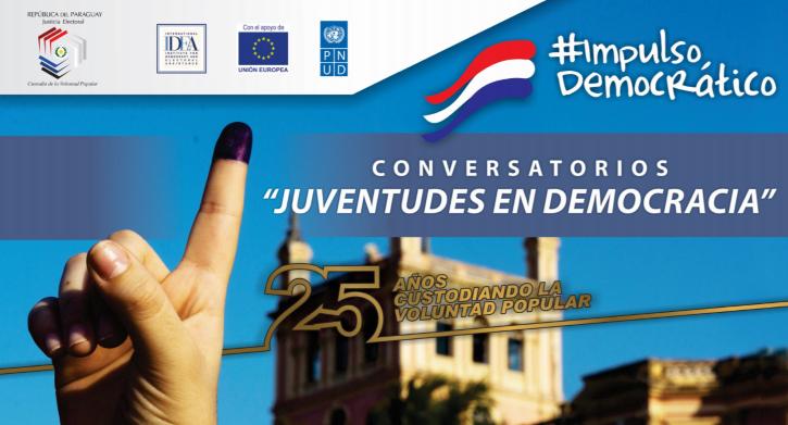 """Ciclo de conversatorios virtuales """"Juventudes en Democracia"""""""