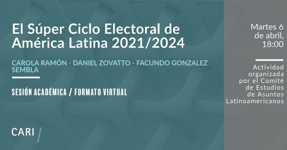 cartel del evento El Súper Ciclo Electoral de América Latina 2021/2024