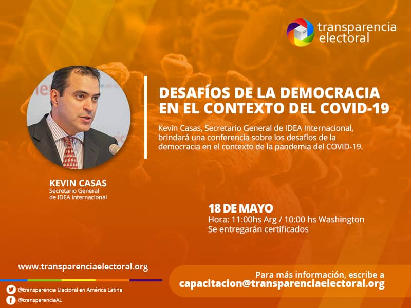 """Conferencia de Kevin Casas: """"Desafíos de la democracia en el contexto del COVID-19"""""""