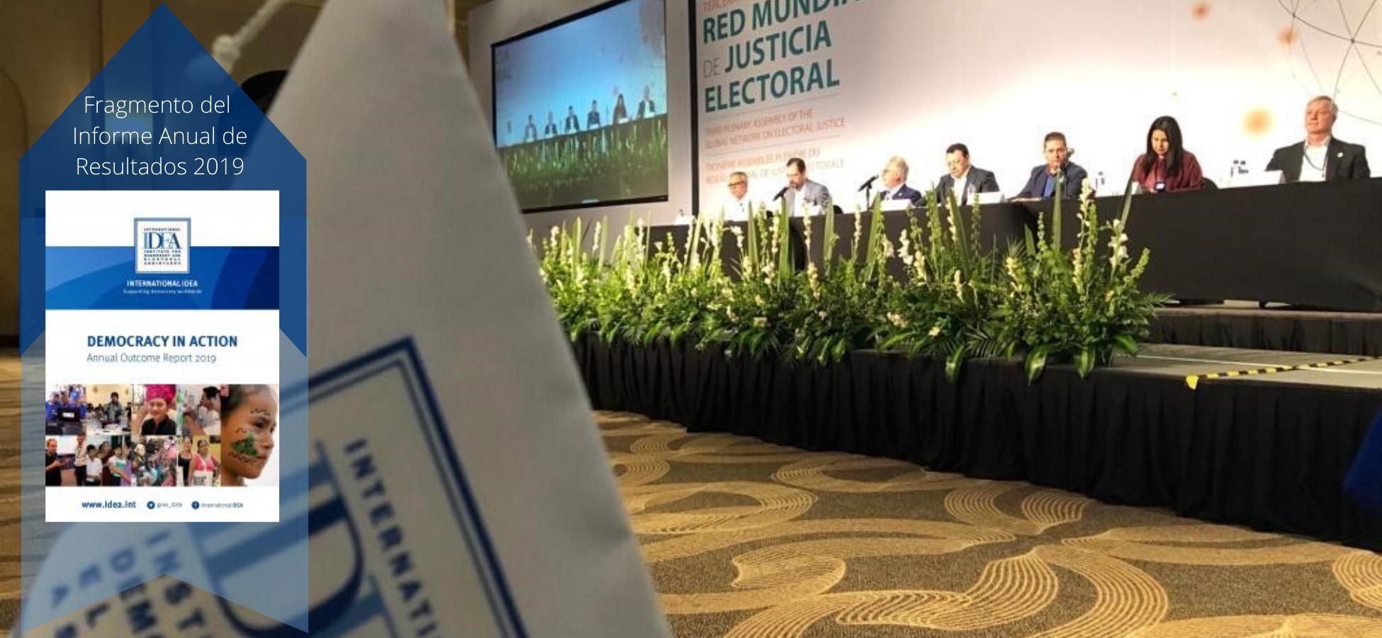 La asamblea plenaria de la Red Global de Justicia Electoral celebrada en Noviembre de 2019 en Los Cabos, México.