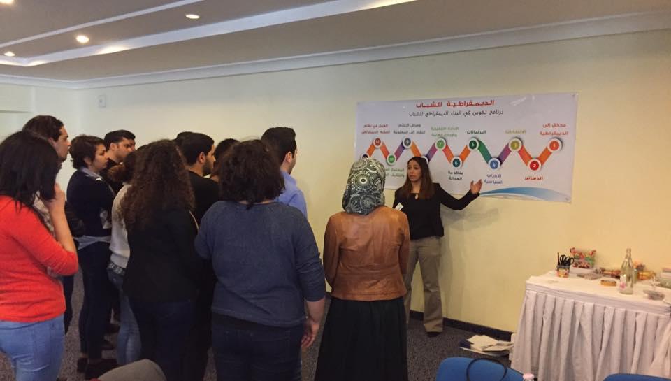 Facilitator explaining the flow of the curriculum