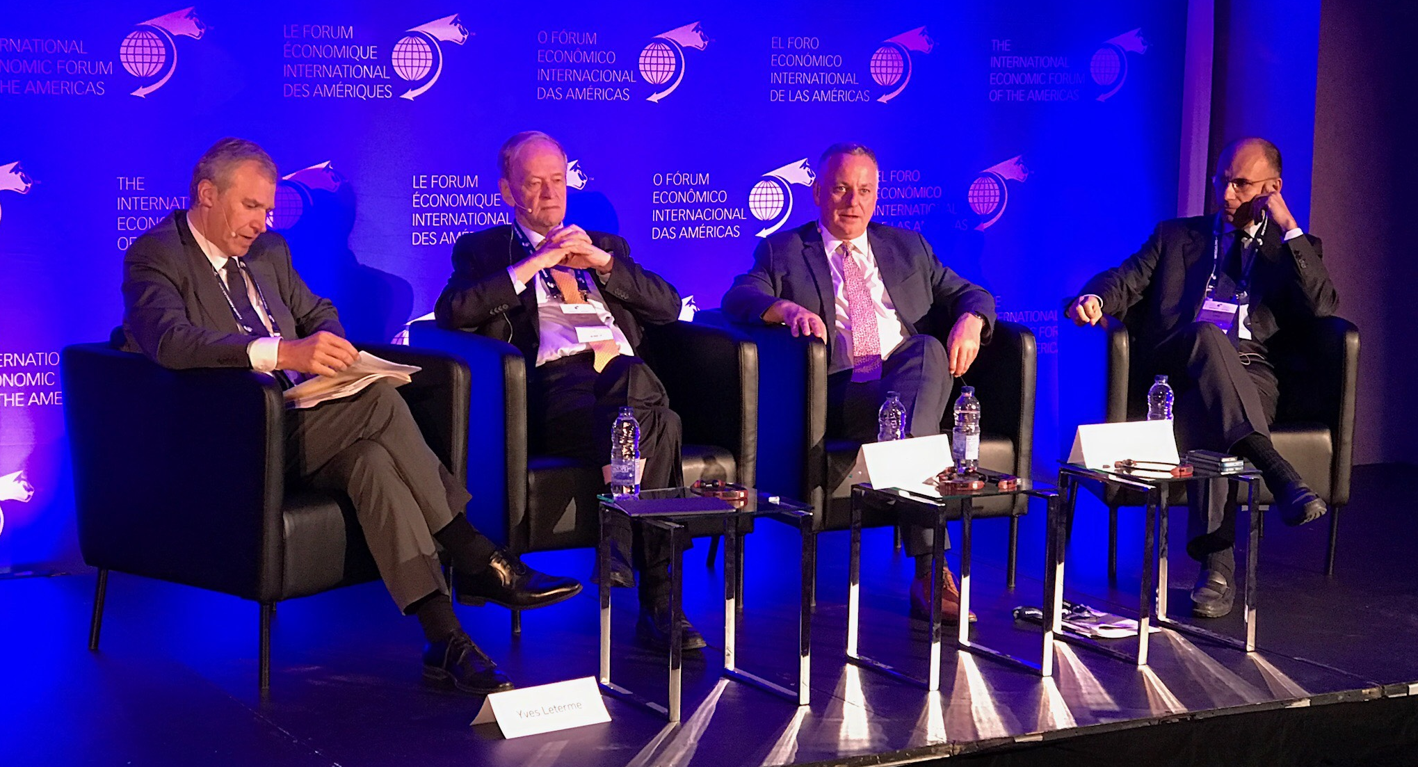 Panel moderated by Yves Leterme, with former Prime Minister of Canada Jean Chretien, former First Minister of Scotland, Lord Jack McConnell and former Prime Minister of Italy, Enrico Letta.
