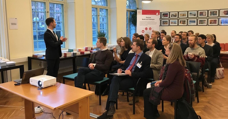 Young Diplomats, IDEA HQ in Stockholm, 11 January 2018. Photo credit: International IDEA/Jasmin Sadeghvaziri