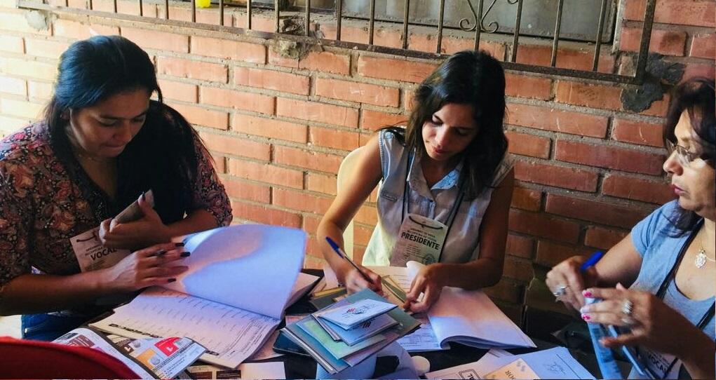Mujeres como miembros de mesas durante las Elecciones Generales de Paraguay 2018