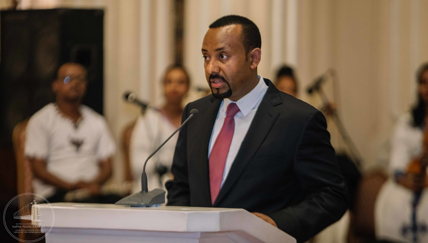 Prime Minister Abiy Ahmed at the African Union. Image credit: Office of the Prime Minister-Ethiopia@Flickr