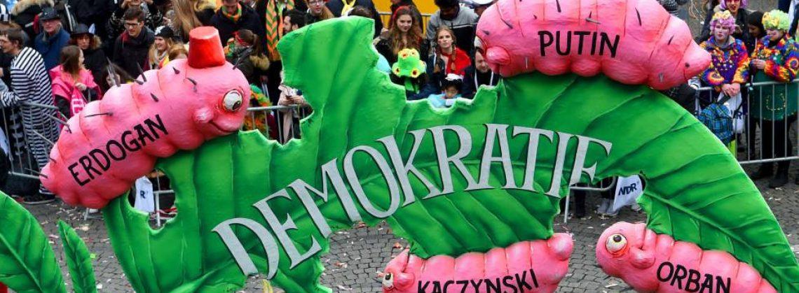 Democracias en retroceso. Crédito de la imagen: Agenda Pública_El País