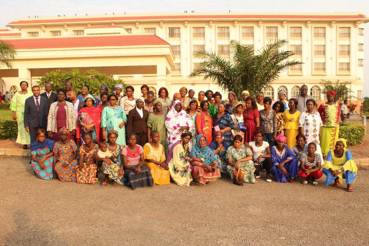Participants of the 'Capacity Building Workshop for Women Leaders for a gender-sensitive Implementation of the Political Agreement for Peace and Reconciliation in Central African Republic' held in June 2019 in Bangui.Photo credit: International IDEA