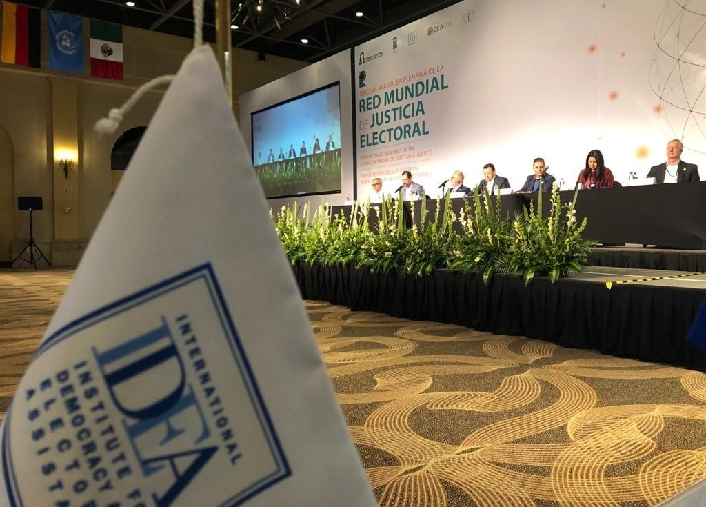 The plenary assembly of the Global Network of Electoral Justice held in November 2019 in Los Cabos, Mexico.