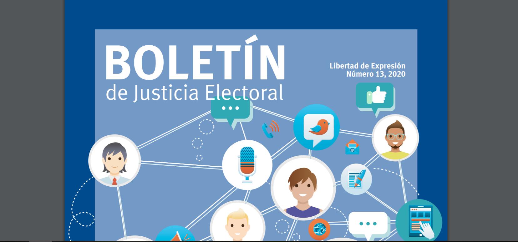 Fragmento de la portada del Boletín de Justicia Electoral No.13