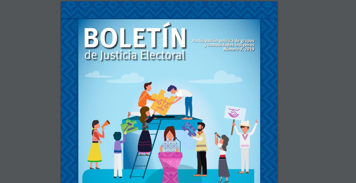 Fragmento de la portada del Boletín de Justicia Electoral No.9
