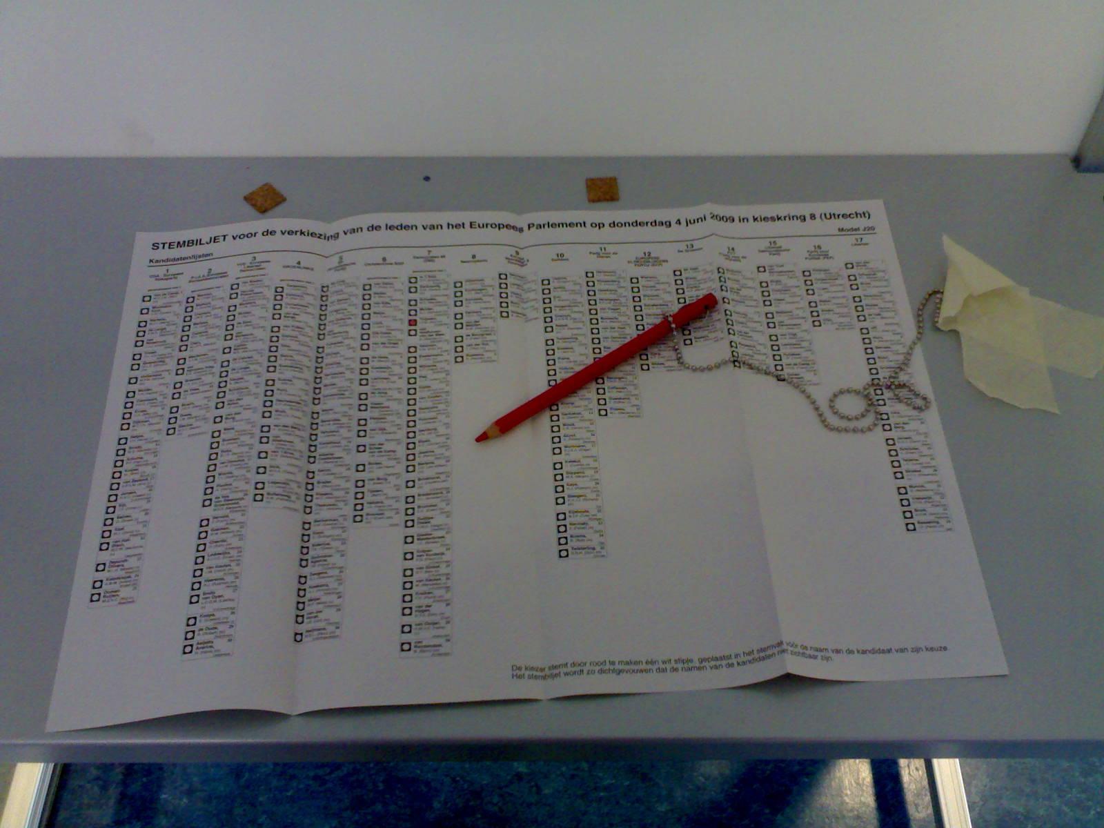 Dutch paper ballot