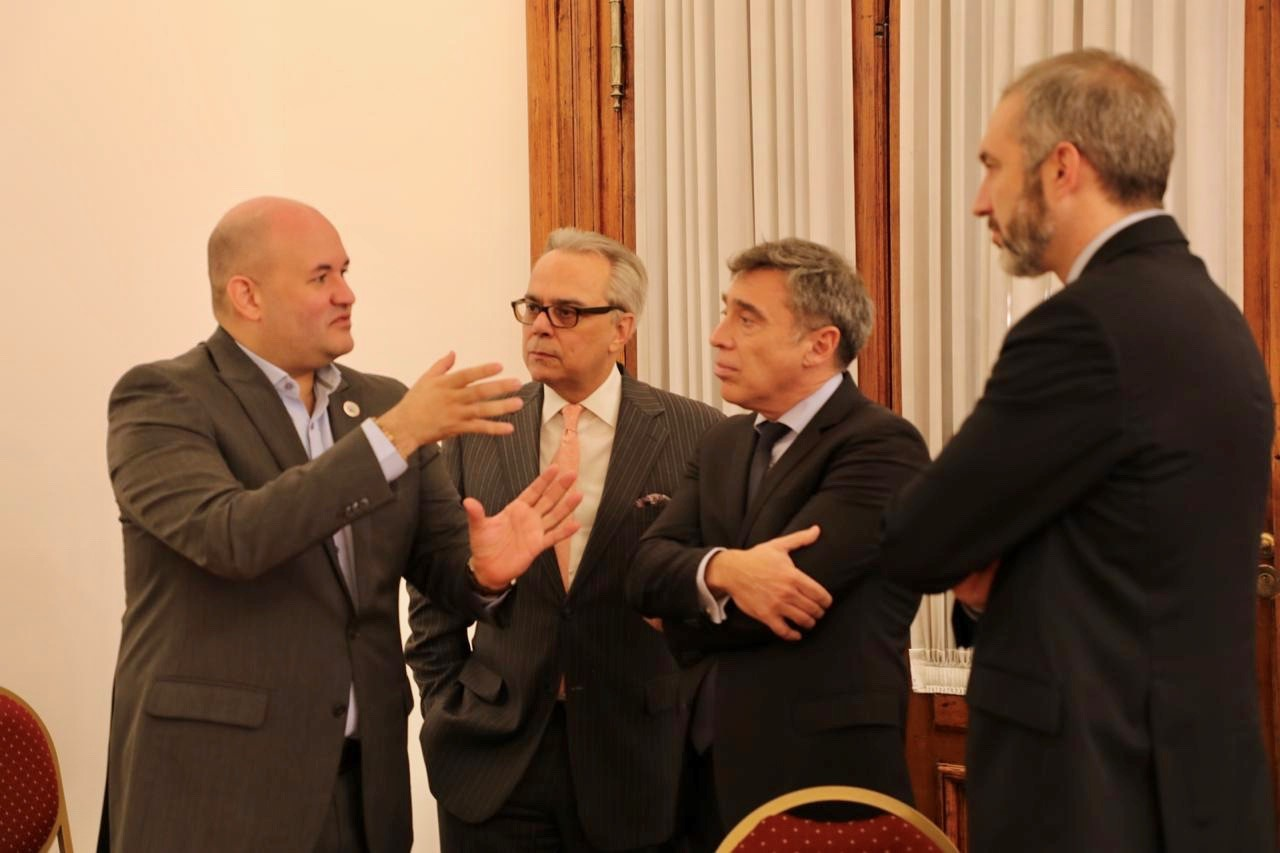 Left to right:  Judge of the Electoral Tribunal of Panama, Alfredo Juncá; Director for Latin America and the Caribbean Region of International IDEA, Dr Daniel Zovatto; Chair of the CNE, Santiago Corcuera; Secretary for Judicial Action of the CNE, Hernán Gonçalves Figueiredo.