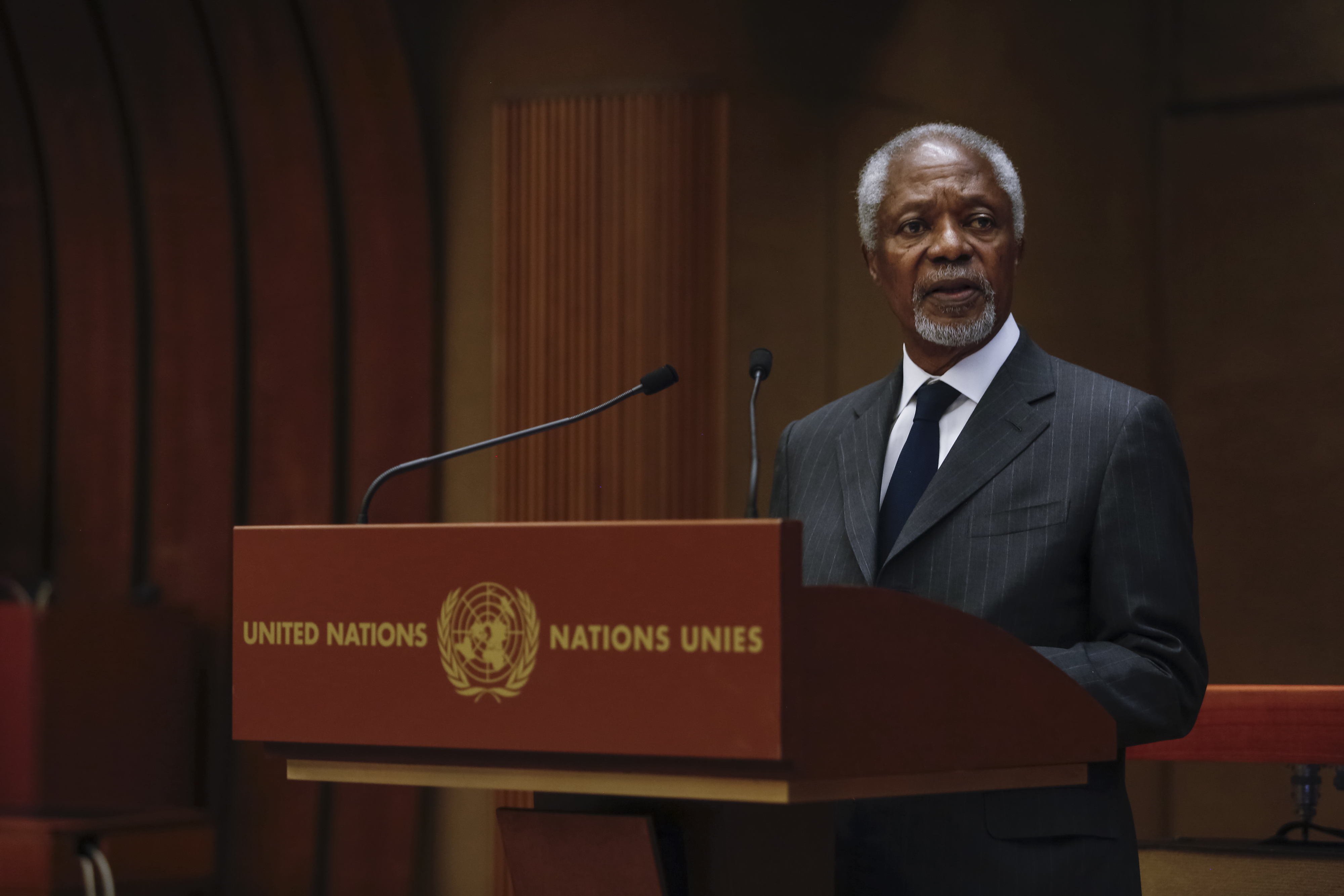 Kofi Annan at launch of International IDEA's Global State of Democracy publication