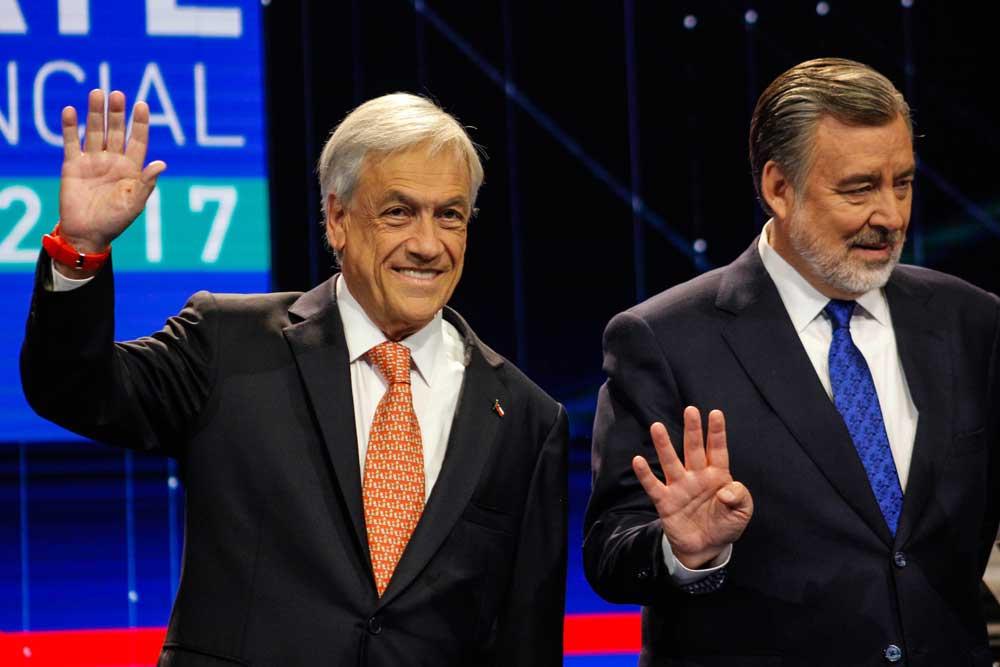 Los candidatos, Sebastián Piñera y Alejandro Guillier. Chile, 2017. Foto: Patricio Alarcón