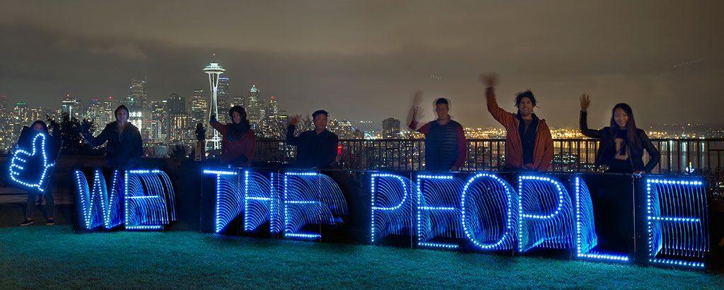 We the people. Image: Joe Brusky