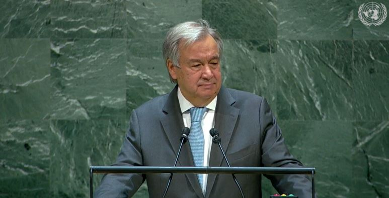 H.E. Mr. Antonio Guterres, Secretary-General of the United Nations, speaking at the UN 75th Anniversary Commemoration
