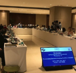 """Workshop """"Leveraging Electoral Training Facilities in Democracies"""" at the Elections Commission of India. Photo credit: Erik Asplund, International IDEA"""