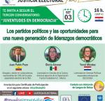 """Ciclo de conversatorios virtuales """"Juventudes en Democracia"""" - Tercer evento"""