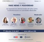 Panelistas al evento Fake News 2021