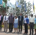 Outside NFPO in Kigali, Rwanda