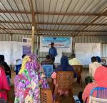 In this picture, community members during a community dialogue session organized by the Sudanese Community Development Organization and Supported by International IDEA