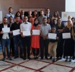 First graduating class of the Youth Democracy Academy following the closing ceremony in Tunis. Photo: International IDEA