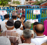 People waiting to vote in Nepal for local representatives for the first time in two decades, 26 June 2017. Photo: ShanaKaiser   International IDEA