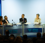 Dr Daniel Zovatto (second from left) during his presentation; to his right Margarita López Maya of the UCV: to his left, Rafael Fernández de Castro of ITAM; Sarah Chayez of the Carnegie Endowment for International Peace, and Arturo Valenzuela of the Covington and Burling. Photo credit: International IDEA.