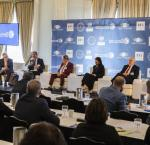 Panelists discussing the Perspectives on Democracy in Latin America and the Caribbean during the second day of the Global Forum on Latin America and the Caribbean 2018. Photo Credit: FUNGLODE