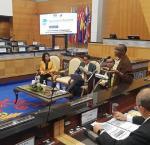 Rumbidzai Kandawasvika-Nhundhu during the roundtable discussion. Image credit: International IDEA, Antonio Spinelli.