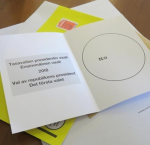 Ballot paper used in Finland's voting process. (Image: Hsu Mon Aung)