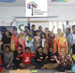 Participants of the YDA Showcase Workshop in Dhaka, Bangladesh. Photo credit: of ActionAid Bangladesh.