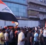 Mourners chant anti-government slogans while carrying the coffin of Abdul Salam Fathi.