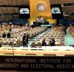 General Assembly Hall at the United Nations Headquarters in New York. Image Credit: Amanda Sourek, International IDEA