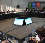 Politicos reunidos en Municipalidad de Córdoba