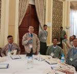Myanmar officials discuss the trainings and manual for electoral subcommissions and polling station staff.