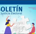 Fragmento de la portada del Boletín de Justicia Electoral No.6