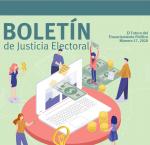 Fragmento de la portada del Boletin Justicia Electoral, no. 17, agosto 2020