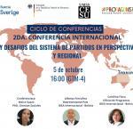 Cartel de la conferencia: El futuro y desafíos del sistema de partidos en perspectivas nacional y regional