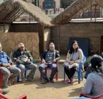 Local government mentors  from Nitishala Nepal talking to local representatives of Sunil Smriti Rural Municipality, Lumbini Province, Nepal.  image credit: International IDEA.