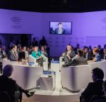 The panel members during the session ¨Latin America Update¨ at the World Economic Forum held in Sao Paulo between 13-15 March 2018. (Photo Credit: World Economic Forum)