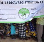 Citizens queuing at the polls to vote on election day at Junju Primary School in Kilifi County, Kenya.