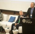 International IDEASecretary-GeneralYves Leterme presenting at the Annual Democracy Forum in Lima, Peru, 21 November 2017. Image: Yael Rojas.