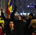 Mass street protest in Bucharest