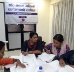 Participants discussing the constitution of Nepal. Image: International IDEA/Rita Rai